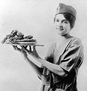 Salvation Army Donut lassie for National Donut Day National Donut Day National Donut Day WWI Doughnut Girl