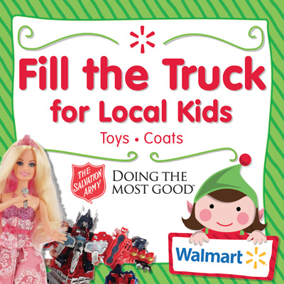 "Walmart ""Fill the Truck"" for Local Kids"
